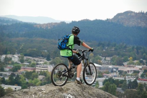 Biker On Mount Tolmie